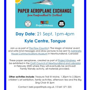 Poster for paper aeroplane exchange
